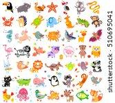 vector illustration of cute... | Shutterstock .eps vector #510695041