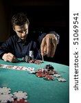 poker player throwing chips   Shutterstock . vector #51069541