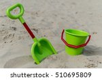 View Of A Green Bucket And...