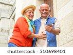 cheerful senior couple having... | Shutterstock . vector #510698401