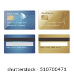 credit cards with hummingbirds | Shutterstock .eps vector #510700471