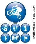 glossy button | Shutterstock .eps vector #51070324