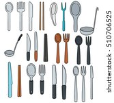 vector set of tableware | Shutterstock .eps vector #510706525