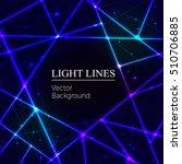 blue random laser beams on dark ... | Shutterstock .eps vector #510706885