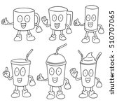 vector set of beverage cup | Shutterstock .eps vector #510707065