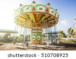 Colorful Carousel In Attractio...