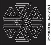 isometric figure  space... | Shutterstock .eps vector #510709015