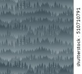 vector mountains forest... | Shutterstock .eps vector #510710791