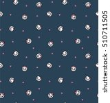 cute cats pattern design for t... | Shutterstock .eps vector #510711505