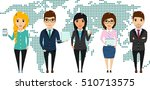 the concept of a young business ... | Shutterstock .eps vector #510713575