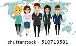 the concept of a young business ... | Shutterstock .eps vector #510713581