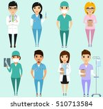 set of different health care... | Shutterstock .eps vector #510713584