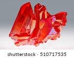 amazing rare red quartz... | Shutterstock . vector #510717535