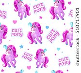 seamless pattern for girls with ... | Shutterstock .eps vector #510717901
