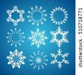 vector snowflake icons set. | Shutterstock .eps vector #510718771