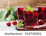 homemade fresh cherry juice in... | Shutterstock . vector #510720001