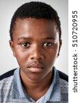 portrait of young african black ...   Shutterstock . vector #510720955