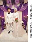 malay couple bride wearing... | Shutterstock . vector #510728881