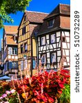 Small photo of Colmar - one of the most beautiful town of France, Alsace region