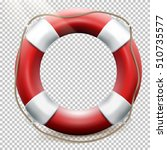 life buoy isolated on... | Shutterstock .eps vector #510735577