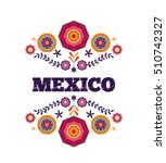 mexican pattern  beautiful... | Shutterstock .eps vector #510742327