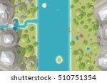 vector illustration. landscape... | Shutterstock .eps vector #510751354
