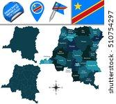 vector map of democratic... | Shutterstock .eps vector #510754297