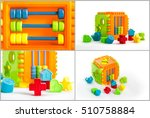 collage of several toys for... | Shutterstock . vector #510758884