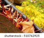 Gutter Full Of Leaves Followin...