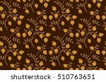 floral seamless pattern.... | Shutterstock .eps vector #510763651