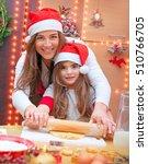 happy family making christmas...   Shutterstock . vector #510766705