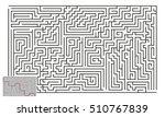 large vector horizontal maze... | Shutterstock .eps vector #510767839