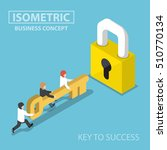 isometric business team holding ... | Shutterstock .eps vector #510770134