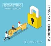 isometric business team holding ... | Shutterstock .eps vector #510770134
