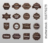 vintage label set. | Shutterstock .eps vector #510770275