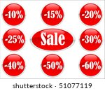 vector of red discount labels | Shutterstock .eps vector #51077119