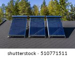 solar water heater installed on ... | Shutterstock . vector #510771511