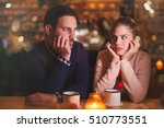 sad couple having a conflict... | Shutterstock . vector #510773551