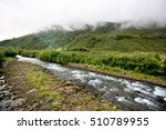 the current small river on... | Shutterstock . vector #510789955