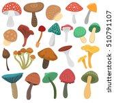 mushrooms vector illustration... | Shutterstock .eps vector #510791107