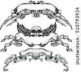gothic banner with skull ... | Shutterstock .eps vector #510793924