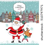 christmas card. santa claus... | Shutterstock .eps vector #510797971