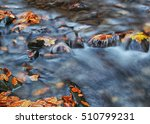 Waterfall In Blurring With...