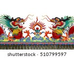 dragon statue roof isolated on... | Shutterstock . vector #510799597