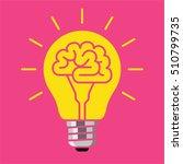 light bulb with a brain inside  ... | Shutterstock .eps vector #510799735