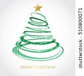 christmas tree from red spiral...   Shutterstock .eps vector #510800071