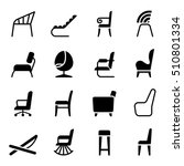 chair icon set in side view | Shutterstock .eps vector #510801334