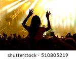 fans cheering at open air live... | Shutterstock . vector #510805219