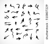 hand drawn arrows  vector set | Shutterstock .eps vector #510807229