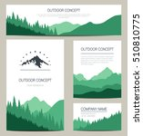 set of green mountains and... | Shutterstock .eps vector #510810775